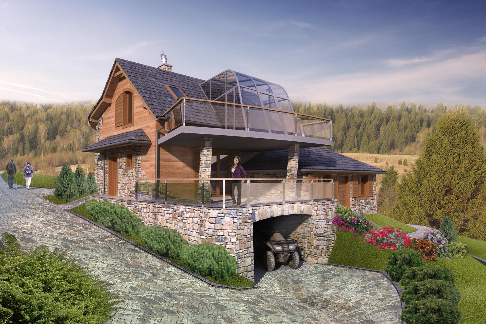 Severyn Projekt - Projekt domu mieszkalnego jednorodzinnego w Strzebowiskach