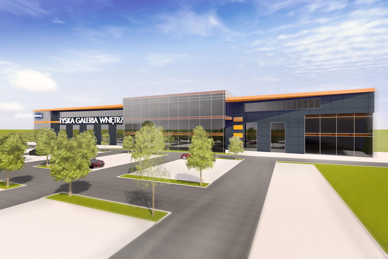 Severyn Projekt - Koncepcja urbanistyczno – architektoniczna budynku firmowego wielofunkcyjnego biurowo – handlowego